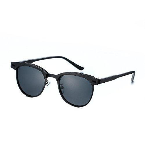 PenSee Fashion Semi Rimless Women Men Retro Brand Shades Polarized Sunglasses