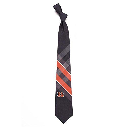 NFL mens Woven Polyester Grid Necktie