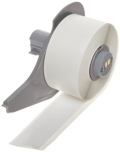 Brady High Adhesion Vinyl Label Tape (M71C-1000-595-WT) - White Vinyl Film - Compatible with BMP71 Label Printer - 50' Length, 1