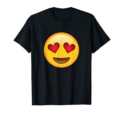 Heart Eyes Emoji Shirt Emoticon Love Theme Party T-shirt