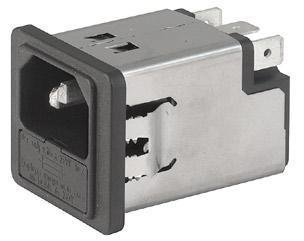 AC Power Entry Modules SNAP-IN 1-POLE 1A