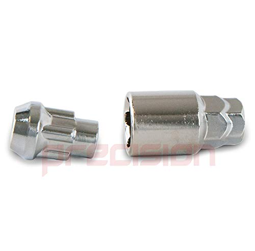 Precision Chrome Locking Bolts for Ṕeugeot 207 with Aftermarket Alloy Wheels PN.SFP-B22243