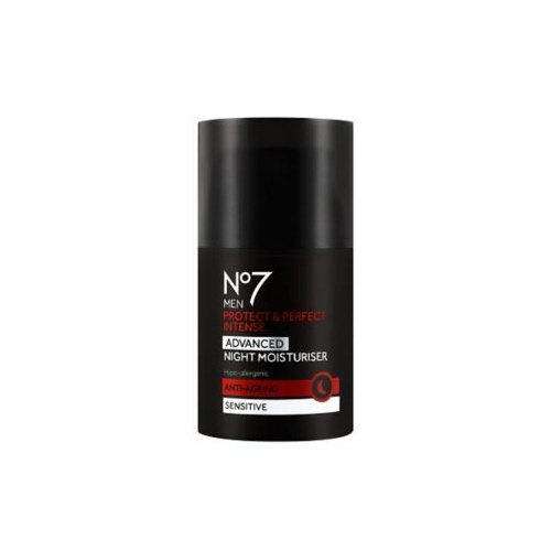 No7 Men Protect & Perfect Intense - ADVANCED Night Moisturiser - Anti Ageing - Sensitive - 50ml by Anti-wrinkle Moisturiser For Men