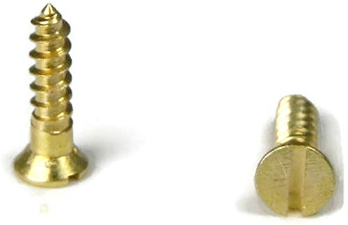 Brass Slotted Flat Head Wood Screw, 10 x 1-3/4'', Packedge Quantity 250 - Quality Assurance from JumpingBolt