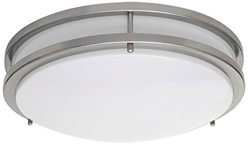 - AMAX Lighting LED-JR003LNKL 17 x 3.8 in. LED Ceiling Fixture - JR Brushed Nickel