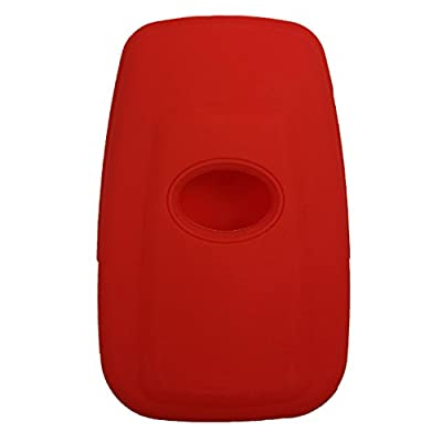 Coolbestda Rubber 4 Buttons Smart Key Fob Cover Case Shell Keyless Jacket Wallet Holder for 2020 Toyota Camry C-HR Prius HYQ14FBC Red: Automotive