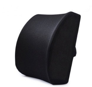 Perfect Choice For Your Lumbar !Sweet Relief 100% Pure Memory Foam Back Cushion - Orthopedic Design for Back Pain Relief - Lumbar Support Pillow (black)