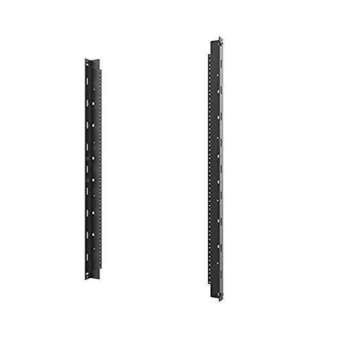 C2G Vertical Rail Kit for 18RU Swing-Out Wall-Mount Cabinet, Black (SWMRK18RU)