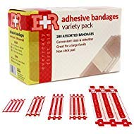 Ever Ready First Aid Quality Adhesive Bandages, Variety Pack of 280 Assorted Bandages from Ever Ready First Aid