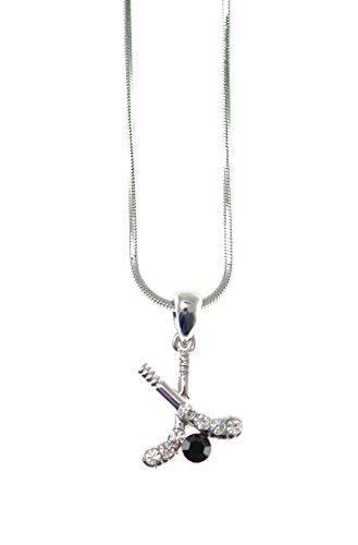 Shagwear Womens Rhinestone Pendant Necklace
