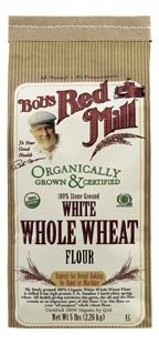 Bob's Red Mill FlourHard White Whole Wheat Organic, 5-Pound (Pack of 4)