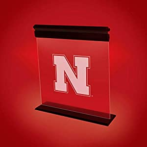 NEBRASKA CORNHUSKERS ACRYLIC LED LIGHT DISPLAY MAN CAVE OFFICE