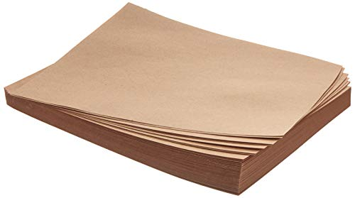 Kraft Brown Paper Sheets - 8.5 x 11 Inches Letter Sized Kraft Paper, 120GSM Paper, Perfect for Arts, Crafts, and Office Use (96 Sheets ()