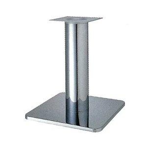 e-kanamono テーブル脚 スカイS7460 ベース460x460 パイプ76.3φ 受座240x240 クロームメッキ AJ付 高さ700mmまで B012CCCX26