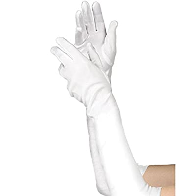 amscan Long White Gloves - Child: Toys & Games