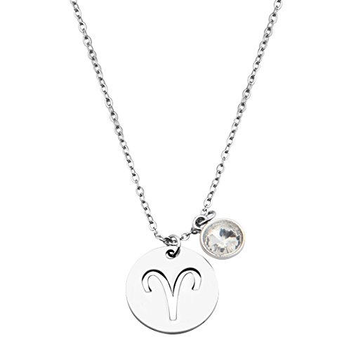 KUIYAI Stainless Birthstone Necklace Bracelet
