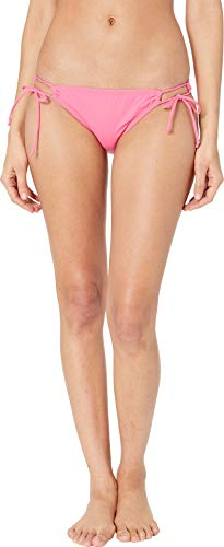 Hobie Junior's Side Tie Hipster Bikini Swimsuit Bottom, Bright Pink, X-Large ()