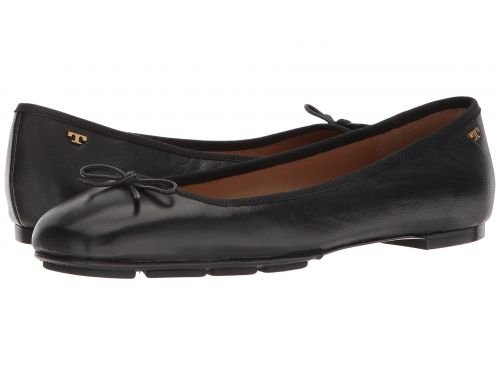 Tory Burch Laila 2 Perfect Black Leather Driver Ballet Flat (7) - Tory Burch Ballerina Flats