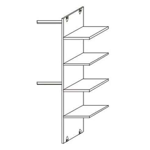 Schwebetürenschrank inneneinteilung  Schwebetürenschrank Inneneinteilung - 2 Kleiderstangen & 4 ...