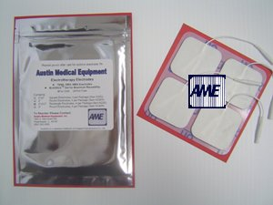 Electrodes 2'' x 2'' by AustinMedical, White Foam Backed 24 Per Package