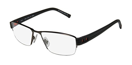 Oga 7922o Mens Designer Half-rim Flexible Hinges Eyeglasses/Spectacles (54-16-135, Dark Olive / Black / - Bottom Half Glasses Rim