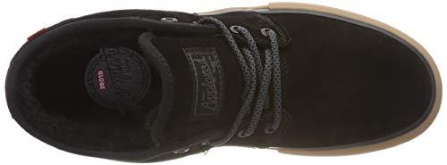Fur Skateboard Noir winter Homme Globe Mahalo De black Chaussures 20339 gum qSUHWza