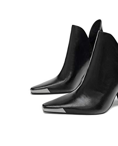 301 Ankle Women's Metal Piece Boots Zara 7106 qFYAq
