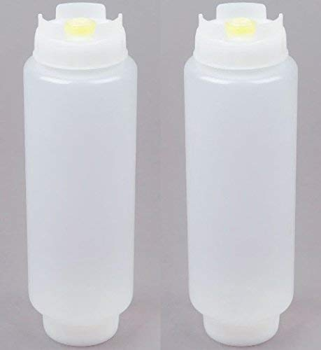 Fifo Sauce Squeeze Bottle Colour: White. Capacity: 591ml (20oz) - Pack of 2