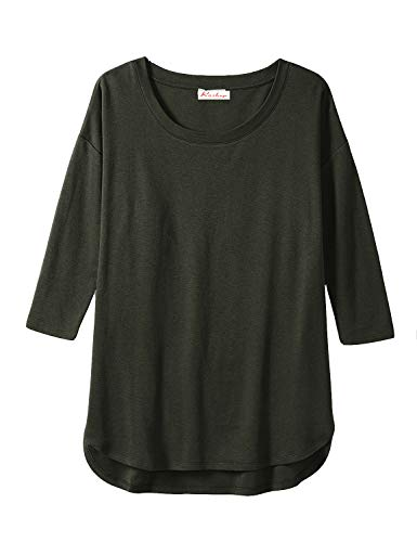 Roshop Women's Plus Size Supersoft Terry Long-Sleeve Pullover Long Tunic ()