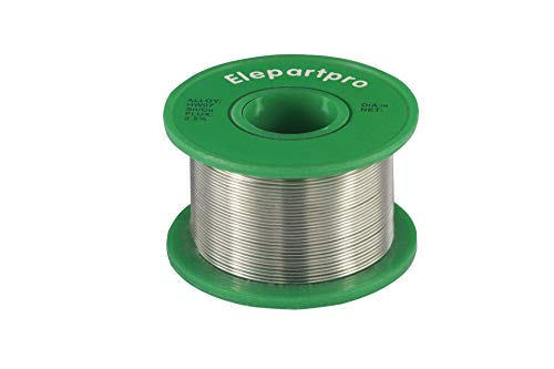 Elepartpro Lead-Free Solder Wire Sn99.3Cu0.7 With Rosin Core Used For Welding Electronic Products Circuit Board Instrumentation Automotive Electronic Mobile Phone 50g (0.6mm) ROHS EU Standard ()