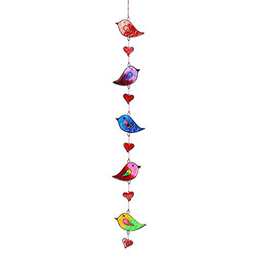 Suncatchers Colorful Bird Stained Glass Effect Resin Mobile - Beautiful Window Hanging - Home Decoration by Suncatchers (Image #1)