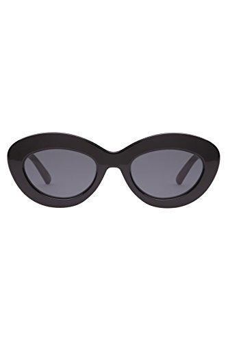 Le Specs Women's Fluxus Plastic Sunglasses Black - Specs Plastic