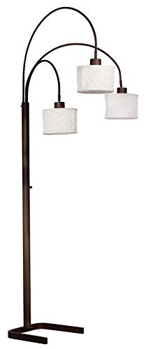 - Kenroy Home 30674ORB Crush Arc Lamp 3 Light, Oil Rubbed Bronze