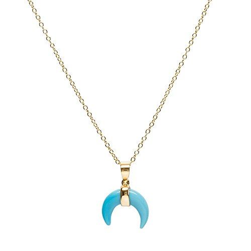 Bellaboho Turquoise Goddess Necklace - Gold (Goddess Turquoise Necklace)