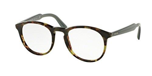 Prada PR19SVF Eyeglass Frames LAB1O1-50 - Top Black/matte Tortoise PR19SVF-LAB1O1-50 -