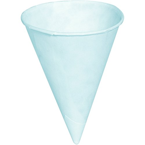 Partners Brand Pcupc4oz Cone Paper Cups  White  Pack Of 5000