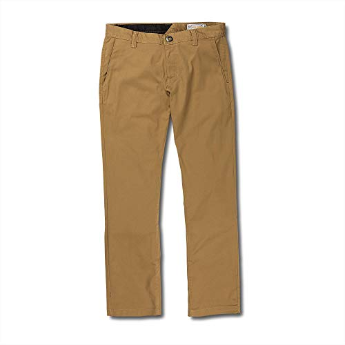 Premium Pants Motocross - Volcom Big and Tall Men's Frickin Modern Fit Stretch Chino Pant, Dark Khaki 46X32