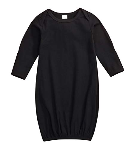 Sleeper Black Newborn - Baby Boys Girls Sleepwear Cotton Nightgown Swaddle Sack Outfit Long Sleeve Sleeping Bag Sleeper Gowns