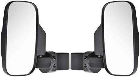 convokeri UTV / ATVサイドミラー用に調整可能なグラブハンドルセット付き1.5 ''-2 ''ロールケージバー用UTVオフロードセンタービュー&サイドビューミラー全地形オフロード車用リアミラーセット