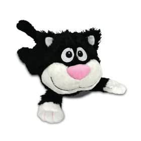 Chuckle Buddies Motion Activated Rolling Laughing Black White Cat Kitten Pet