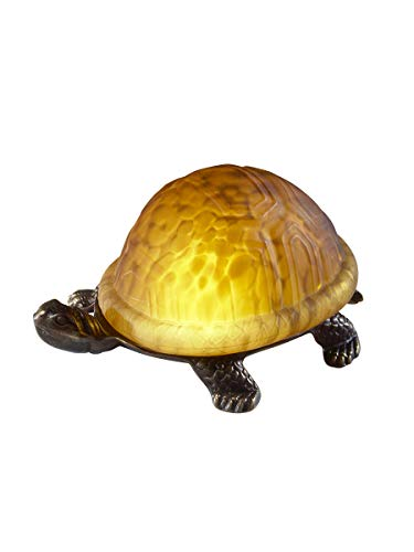 Dale Tiffany 1773/816 Amber Turtle Accent Lamp, 8.25