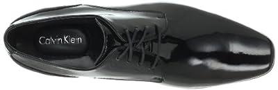 Calvin Klein Men's Brodie Patent Tuxedo Oxford, Black, 11 W US