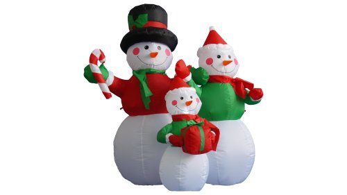 Ornaments Inflatable Christmas (4 Foot Christmas Inflatable Snowmen Family Party Decoration)