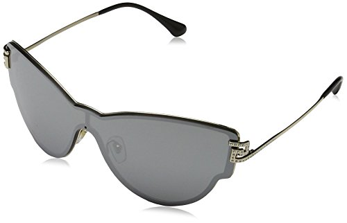 Versace Womens Sunglasses (VE2172) Gold/Silver Metal - Non-Polarized - 42mm by Versace