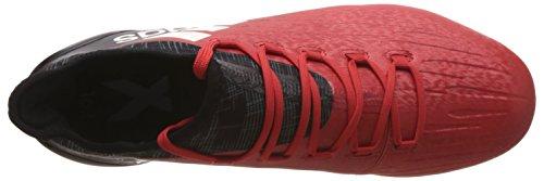 adidas X 16.1 FG,Botas de Fútbol Para Hombre, Rojo (Rosso Rojo/Ftwbla/Negbas), 46 EU