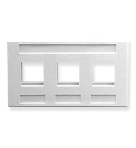 ICC Faceplate- Furniture- 3-Port- White