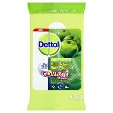 Dettol Anti-Bacterial Multi-Action Green Apple Floor Wipes 15PK
