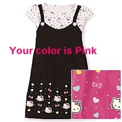 8addbf98006 Amazon.com: JCPenney Hello Kitty Tunic Tee Cotton Hot Pink Girls XL ...