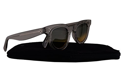 Celine CL41375/S Sunglasses Grey Transparent w/Amber Grey Gradient Lens 44mm RDNBW CL41375S CL - Closeout Sunglasses Designer