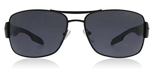 Prada Sport Sunglasses - PS53NS / Frame: Demi Shiny Black Lens: Gray Polarized